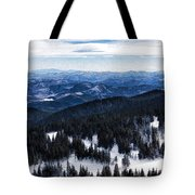 Snowy Ridges - Impressions Of Mountains Tote Bag