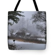 Snowy Road 2 Tote Bag