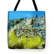 Snowy Rock Mountain Tote Bag