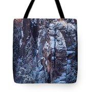 Snowy Rocks. Saxon Switzerland Tote Bag