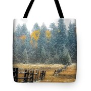 Snowy Silence Tote Bag