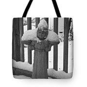 Snowy Statue Tote Bag
