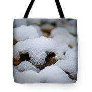 Snowy Stones Tote Bag