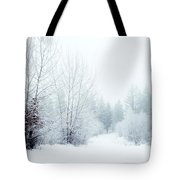 Snowy Sunday Tote Bag