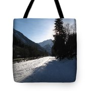Snowy Track Tote Bag