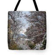 Snowy Trail Tote Bag
