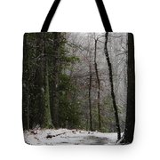 Snowy Trail Quantico National Cemetery Tote Bag