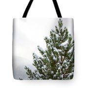 Snowy Tree Tote Bag by Art Block Collections