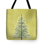 Snowy Tree Tote Bag