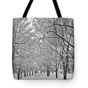 Snowy Treeline Tote Bag