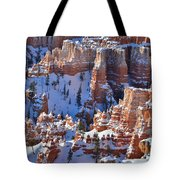 Snowy Turrets Tote Bag