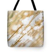 Snowy Weed Tote Bag