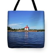 Snug Harbour Lighthouse Tote Bag
