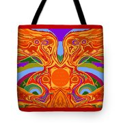 So Hot It Will Burn Your Face Off Art And Text Tote Bag