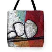 So We Begin- Abstract Art Tote Bag
