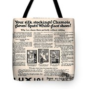 Your Silk Stockings Vintage Soap Ad Tote Bag