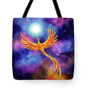 Soaring Firebird In A Cosmic Sky Tote Bag