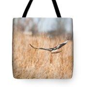 Soaring Hawk Over Field Tote Bag