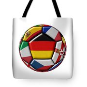 Soccer Ball With Flag Of German In The Center Tote Bag
