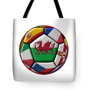 Soccer Ball With Flag Of Wales In The Center Tote Bag