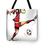 Soccer Striker Tote Bag