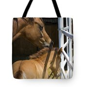Socializing Amongst Horses Tote Bag