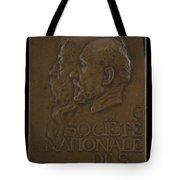 Soci?t? Nationale Des Beaux-arts: Jean-louis Ernest Meissonier And Pierre Puvis De Chavannes [obverse] Tote Bag