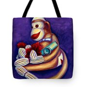Sock Monkey With Kazoo Tote Bag