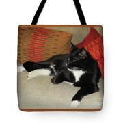Socks The Cat King Tote Bag