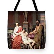 Socrates Chiding Alcibiades Tote Bag