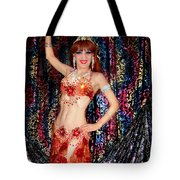 Sofia Metal Queen - Belly Dancer Model At Ameynra Tote Bag