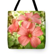 Soft And Peachy Smiles Tote Bag