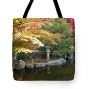 Soft Autumn Pond Tote Bag