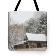 Soft Colors In The Snow Tote Bag