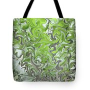Soft Green And Gray Abstract Tote Bag