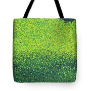 Soft Green Wet Trees Tote Bag