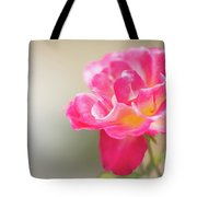 Soft As A Whisper Of A Hot Pink Rose Tote Bag