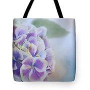 Soft Hydrangeas On Blue Tote Bag