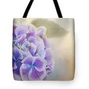 Soft Hydrangeas On Peach Tote Bag