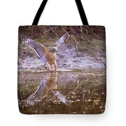 Soft Landing On The Pond Tote Bag