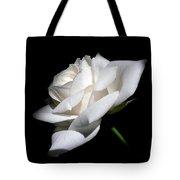 Soft Light White Rose Flower  Tote Bag