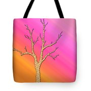 Soft Pastel Tree Abstract Tote Bag