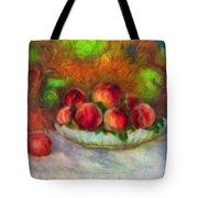 Soft Peaches Still Life Tote Bag