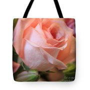 Soft Pink Rose Tote Bag