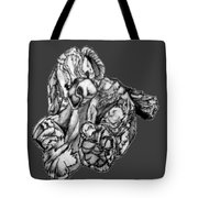Soft Puppy Drawing Tote Bag