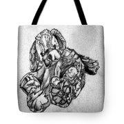 Soft Puppy Sketch Tote Bag