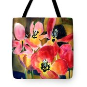 Soft Quilted Tulips Tote Bag