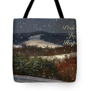Soft Sifting Christmas Card Tote Bag by Lois Bryan
