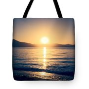 Soft Sunset Lake Tote Bag