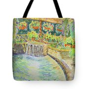 Soft Waterfall In The Pool Of Gibbs Gardens Tote Bag